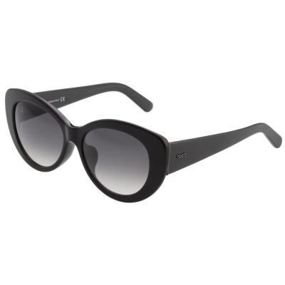 TOD'S 時尚小貓眼 太陽眼鏡 (黑色)TO143F