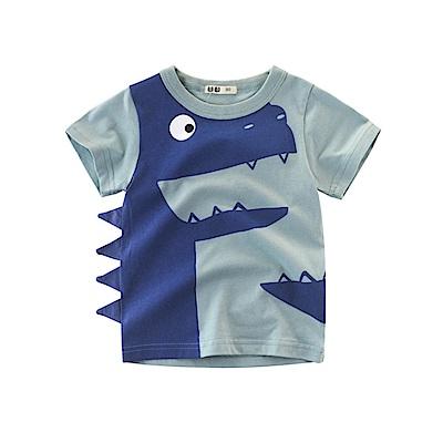 男童 中小童 歐美風格舒柔棉短袖T恤-快樂恐龍