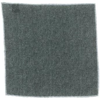 《期間限定セール開催中!》ELEVENTY メンズ スカーフ ダークグリーン ウール 100%