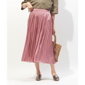 Rouge vif la cle / ルージュ・ヴィフ ラクレ サテンギャザースカート