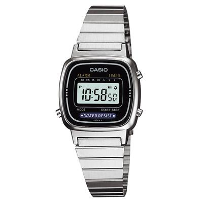 CASIO 銀棕梠城市數位電子錶(LA670WA-1)-24.6mm