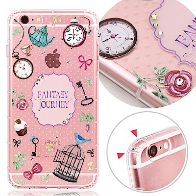 VAT APPLE iPhone6/6s 4.7吋 奧地利水晶彩繪氣墊手機鑽殼-異想世界