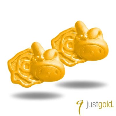 鎮金店Just Gold 黃金耳環- 花漾舞曲Melody