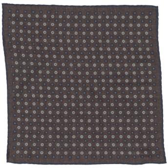 《期間限定セール開催中!》ELEVENTY メンズ スカーフ ダークブラウン コットン 50% / ウール 50%
