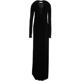 《セール開催中》PIERRE BALMAIN レディース ロングワンピース&ドレス ブラック 40 レーヨン 92% / ポリウレタン 8%