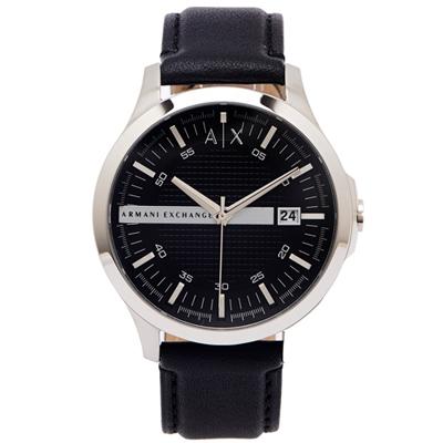 A/X Armani Exchange 時尚風皮革手錶 AX2101