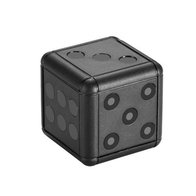 CHICHIAU 奇巧 1080P 高清迷你黑色骰子鑰匙圈造型微型針孔攝影機