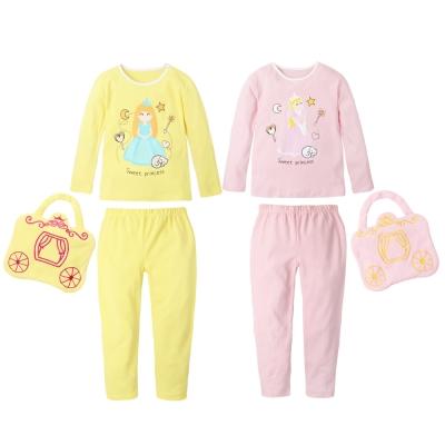baby童衣 公主印花女童長袖居家 套裝(附小提包)70040