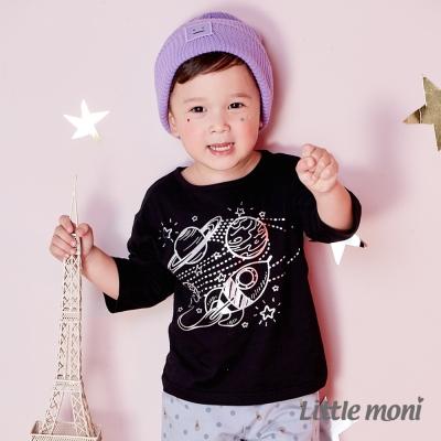 Little moni 宇宙探索印圖七分袖上衣 (共2色)