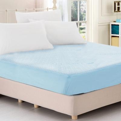天絲抑菌防蹣吸濕排汗舒柔布100%防水床包式保潔墊 - 特大