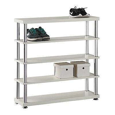 H&D 白雪杉3尺五層鞋架 (寬90X深30X高95cm)
