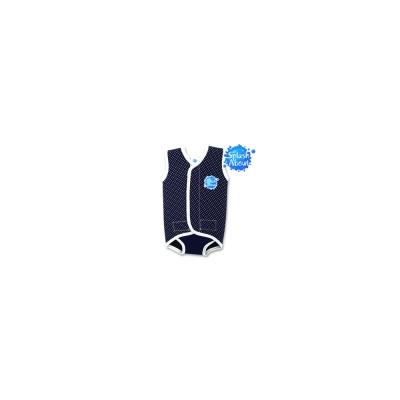 Splash About 潑寶 包裹式保暖泳衣 - 水玉點點 / 海軍藍