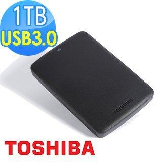 開發票 TOSHIBA 三代 黑靚潮 1T 1TB USB3.0 2.5吋行 動硬碟(黑) 抗震防刮 三年保固