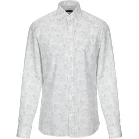 《期間限定 セール開催中》ZZEGNA メンズ シャツ ホワイト 41 コットン 100%