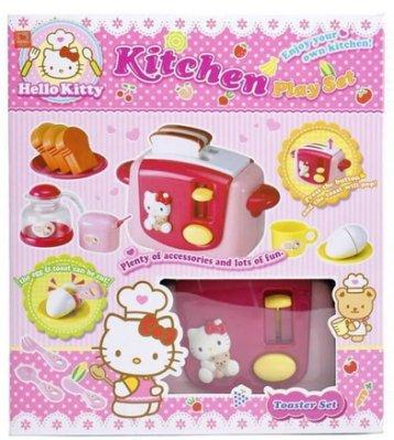 【阿LIN】2018AA KT烤麵包機 Hello Kitty 凱蒂貓 扮家家酒 廚房用品 烹飪用具
