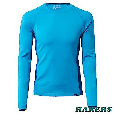 【HAKERS 哈克士】男-抗UV長袖排汗衫(多瑙藍)