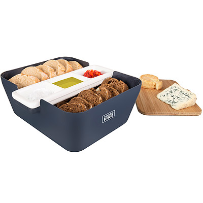 TK 麵包收納盒+醬碟組(深藍)