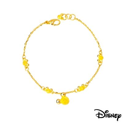 Disney迪士尼系列金飾 黃金手鍊 動感米奇款