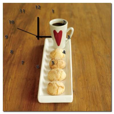 24mama掛畫-單聯方形烘焙西點手作輕食民宿掛飾時鐘無框畫掛畫-蛋糕-40x40cm