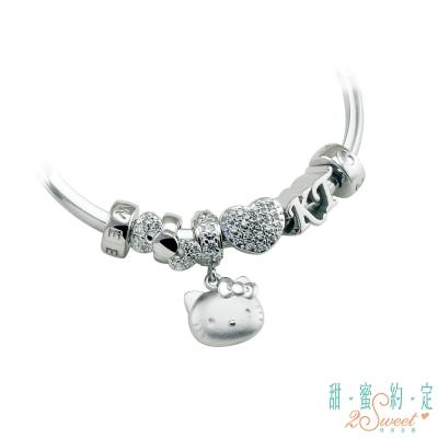 甜蜜約定 HelloKitty 幸福時光Kitty純銀/白鋼串珠手鍊