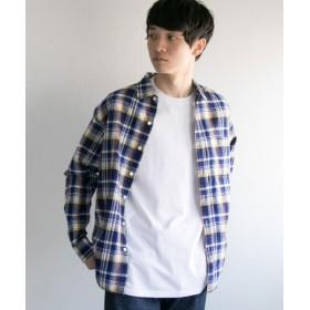 【50%OFF】 アーバンリサーチ マドラスチェックレギュラーシャツ メンズ NAVY L 【URBAN RESEARCH】 【セール開催中】