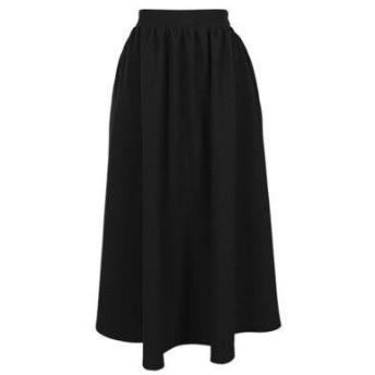 コウベレタス KOBE LETTUCE エンボスフレアギャザースカート (ブラック)