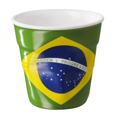 法國 REVOL FRO 巴西國旗陶瓷皺折杯 80cc