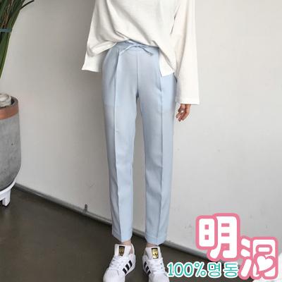 正韓 粉彩色蝴蝶結立體西裝褲 (共六色)-100%明洞