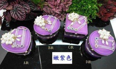 *泰國精品*【~(噴砂玻璃盒 嫩紫色)~ 送禮盒 包裝盒 禮物盒 佛牌收納盒 泰國佛牌 】首飾盒 飾品盒 佛牌盒 珠寶盒
