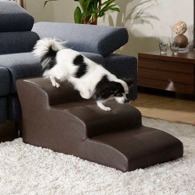 ドッグステップ 3段 チワワモデル 日本製 ペット用 階段 小型犬 チワワ用 階段 代引不可
