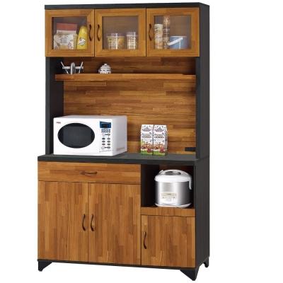 品家居 艾瑞克4尺收納餐櫃組合-120.5x40.3x198cm-免組