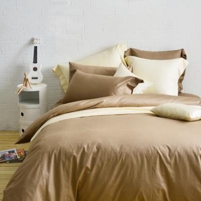 Cozy inn 簡單純色-咖啡 特大四件組 200織精梳棉薄被套床包組