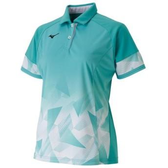 MIZUNO SHOP [ミズノ公式オンラインショップ] ゲームシャツ(ラケットスポーツ)[レディース] 32 ブルーターコイズ 62JA9706