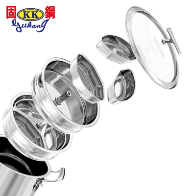 固鋼 塔吉概念氣鍋組7件組