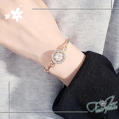 iSFairytale伊飾童話 燦爛之眼 鋯石玫瑰金手環手鍊