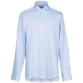 《セール開催中》GHIRARDELLI メンズ シャツ スカイブルー 44 コットン 100%