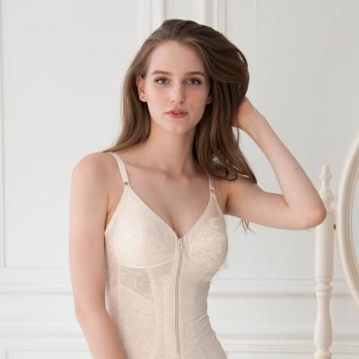 華歌爾 年度熱銷款A-B罩杯 緹花彈性全身塑身衣(經典膚)