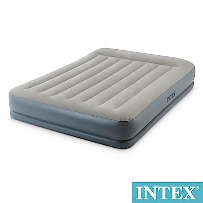 INTEX舒適雙層內建幫浦充氣床(fiber tech)-寬152cm(64117N)