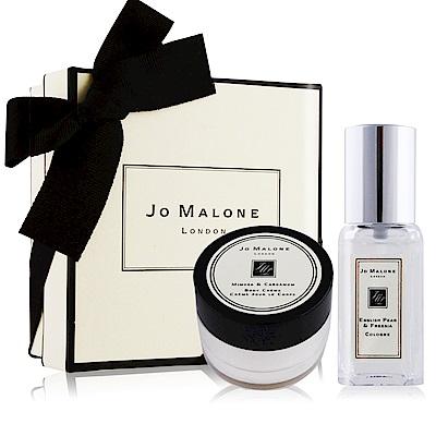 Jo Malone 經典潤膚香氛禮盒[英國梨與小蒼蘭香水9ml+含羞草潤膚霜15ml]