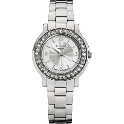 ELYSEE Helena 璀燦晶鑽都會儷人時尚腕錶-銀/32mm