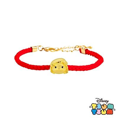 Disney迪士尼TSUM TSUM系列金飾 黃金編織手鍊 小美人魚款