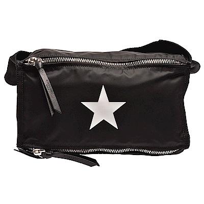 GIVENCHY 經典星星圖案防潑水尼龍布中性腰包/斜背包(黑)