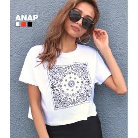 【セール開催中】ANAP(アナップ)ペイズリークロップドTシャツ