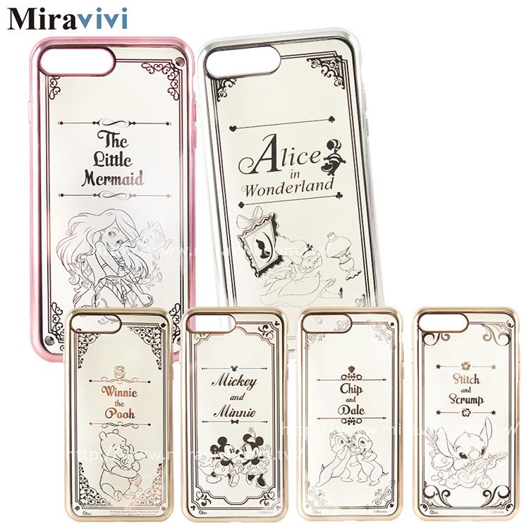 Disney迪士尼iPhone 7 Plus(5.5吋)時尚質感電鍍保護套-畫框系列