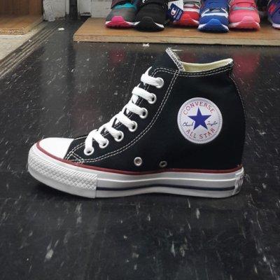 內增高 Converse Chuck Taylor All Star 厚底 帆布 高筒 黑色 基本款 547198C
