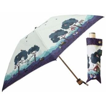 小川(Ogawa) クイックオープン 折りたたみ 晴雨兼用日傘 手開き 50cm 青い鳥 晴雨兼用 UV加工 遮熱