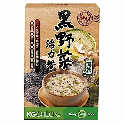 KGCHECK凱綺萃 KG黑野菜活力餐 海苔口味  2入組(6包 x 2盒)