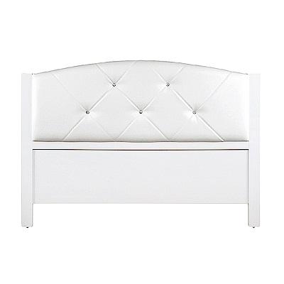 AS-奧特5尺白色床頭片-154.5x5.5x108cm