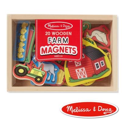 美國瑪莉莎 Melissa & Doug 磁力 農場動物木質磁鐵貼