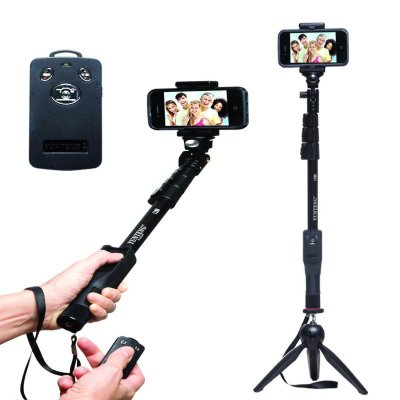 【雲騰YT-1288】鋁合金自拍桿+迷你腳架+可調焦藍牙遙控 三件組 可站立 可直拍 相機手機通用